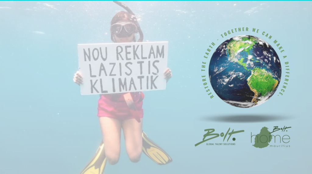 Earth Day 2021 Bolt Home Mauritius Bolt Talent Solutions